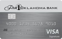 First Oklahoma Bank gray credit card image example